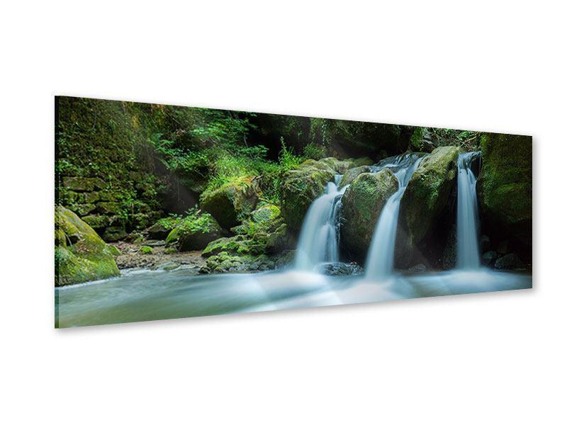 Acrylglasbild Panorama Fallendes Wasser