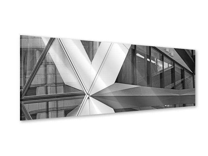 Acrylglasbild Panorama Teil eines Wolkenkratzers