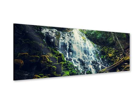 Acrylglasbild Panorama Feng Shui & Wasserfall