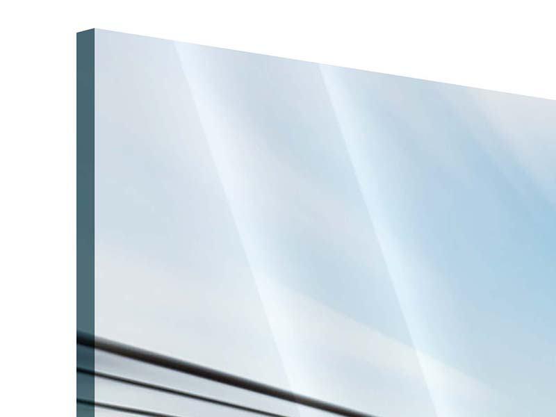 Acrylglasbild Panorama Rennwagen