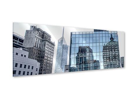 Acrylglasbild Panorama Wolkenkratzer NYC