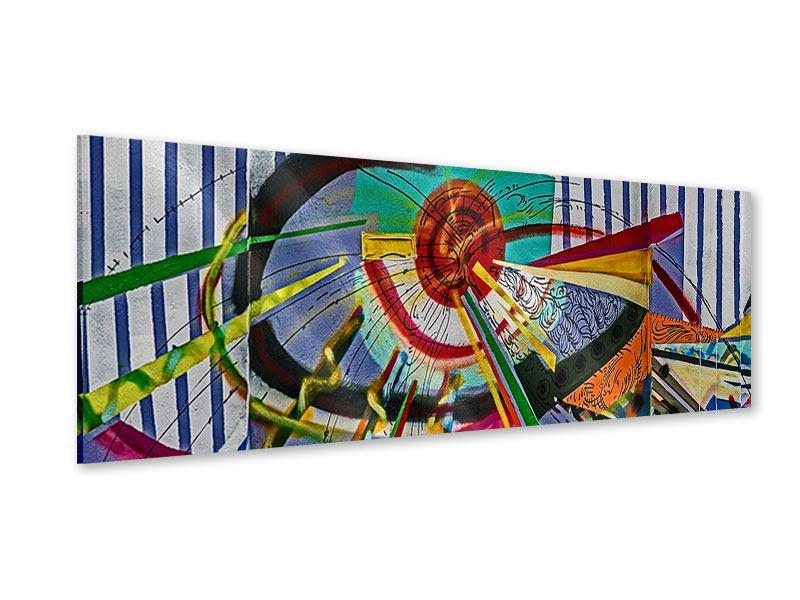 Acrylglasbild Panorama Künstlerisches Graffiti