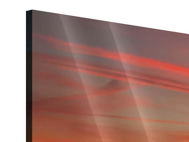 Acrylglasbild Panorama Der Sonnenuntergang