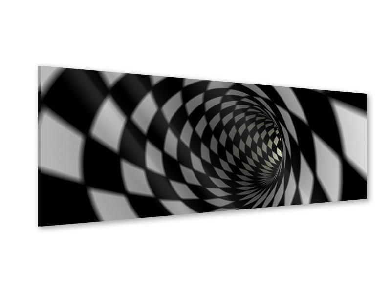 Acrylglasbild Panorama Abstrakter Tunnel Black & White