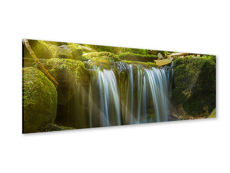 Acrylglasbild Panorama Schönheit des fallenden Wassers