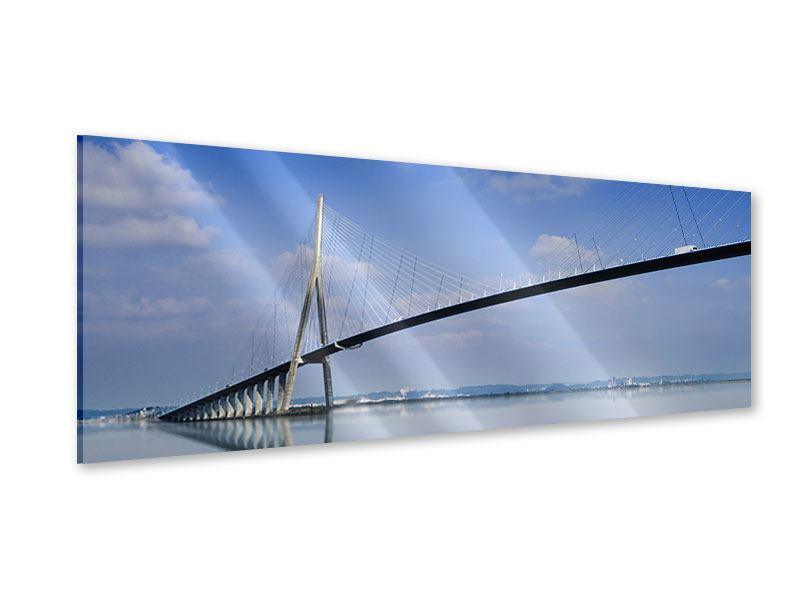 Acrylglasbild Panorama Die Pont de Normandie
