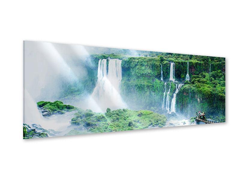 Acrylglasbild Panorama Wasserfälle