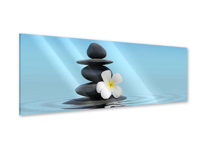 Acrylglasbild Panorama Zen Steine