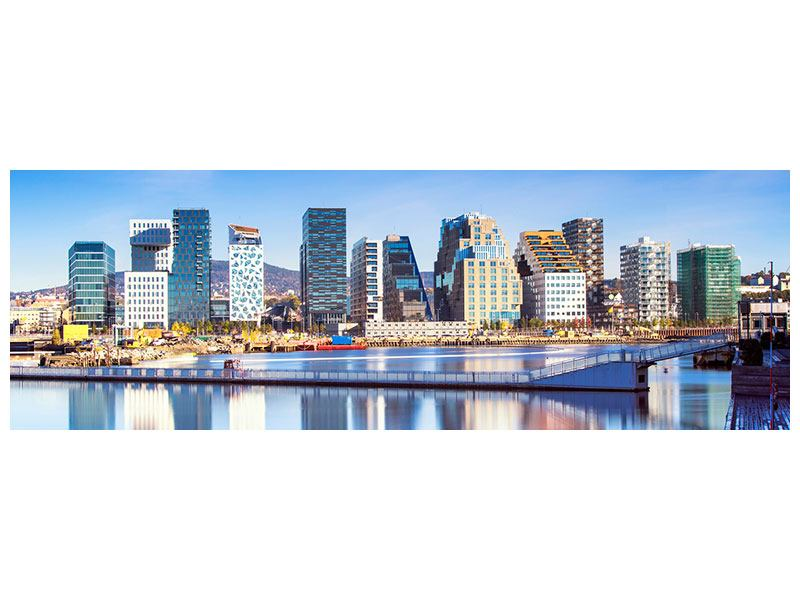 Acrylglasbild Panorama Skyline Oslo