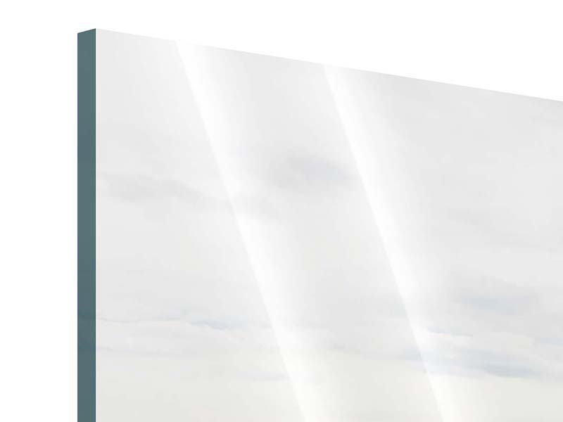 Acrylglasbild Panorama Leise Wellen