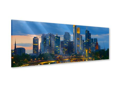 Acrylglasbild Panorama Skyline Frankfurt am Main