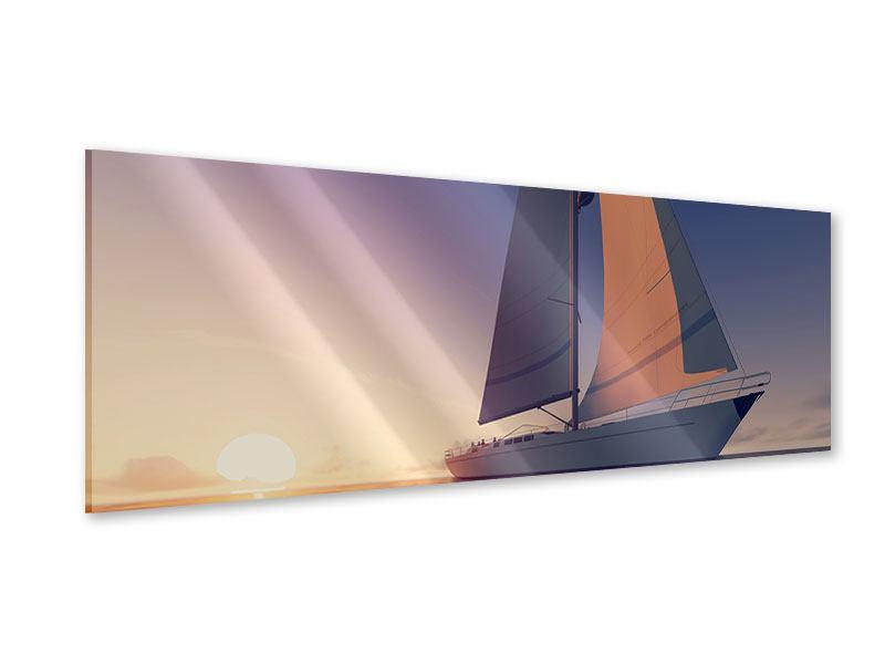 Acrylglasbild Panorama Das Segelschiff