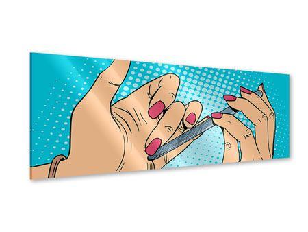Acrylglasbild Panorama Pop Art Nails