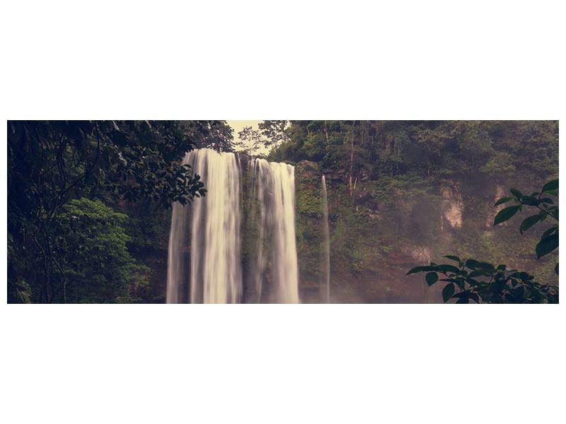 Acrylglasbild Panorama Wasserfall in Mexiko