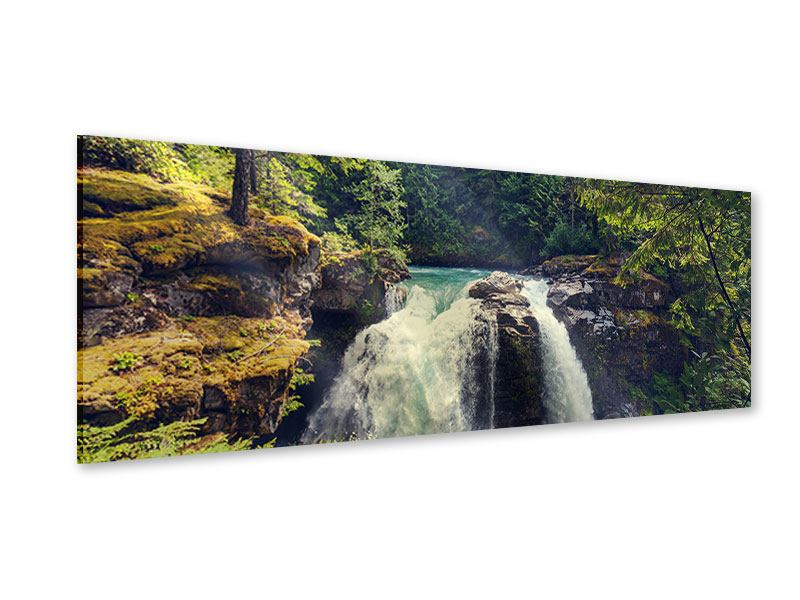 Acrylglasbild Panorama Flussströmung