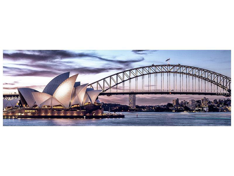 Acrylglasbild Panorama Skyline Sydney Opera House