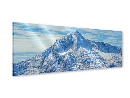 Acrylglasbild Panorama Friedliche Bergstimmung
