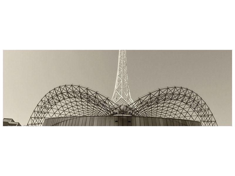 Acrylglasbild Panorama Close Up Wolkenkratzer