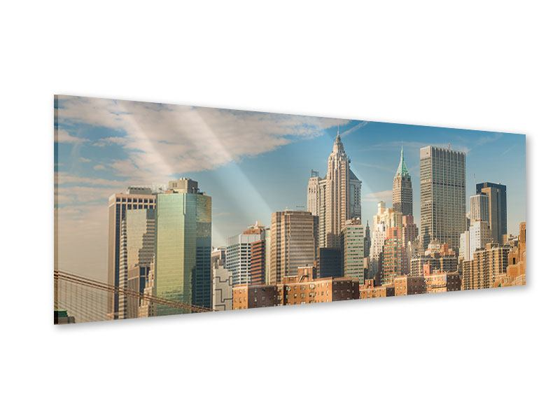 Acrylglasbild Panorama Skyline New York