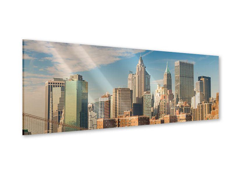 Acrylglasbild Panorama Skyline New York