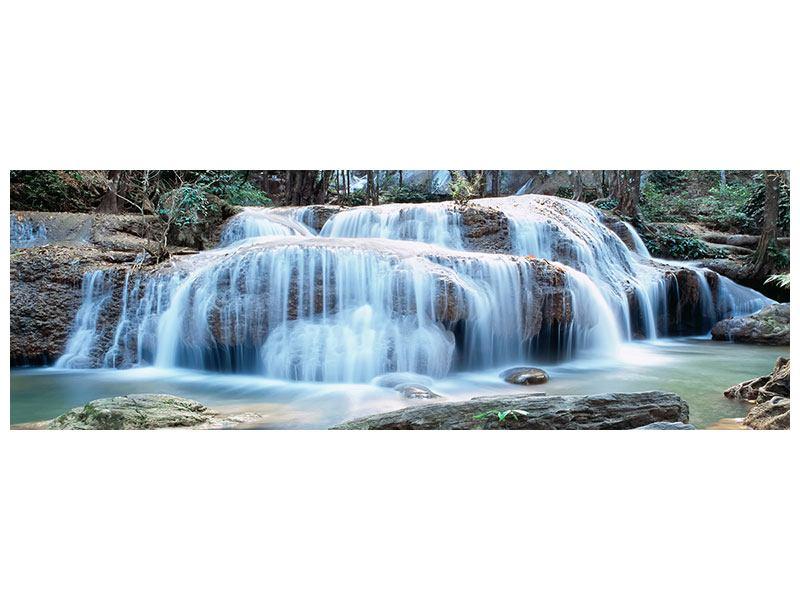 Acrylglasbild Panorama Ein Wasserfall