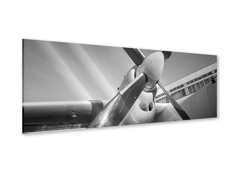 Acrylglasbild Panorama Nostalgisches Flugzeug
