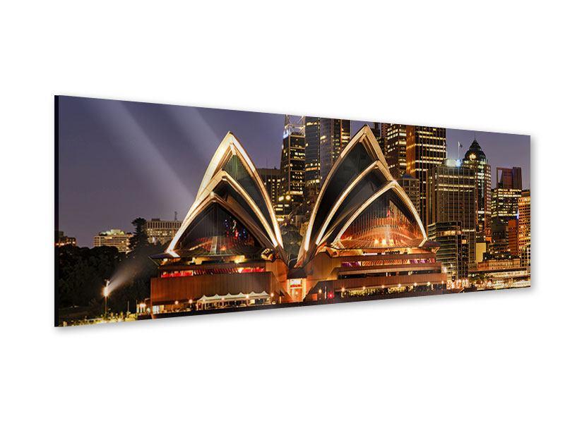 Acrylglasbild Panorama Skyline Mit dem Boot vor Sydney