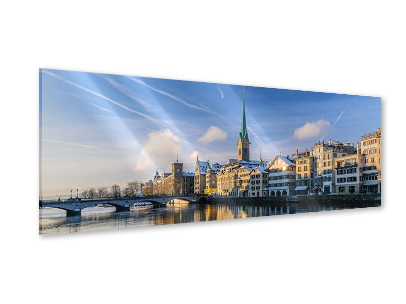Acrylglasbild Panorama Zürich