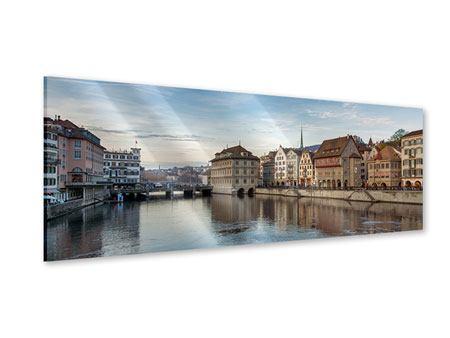Acrylglasbild Panorama Kosmopolitisches Zürich