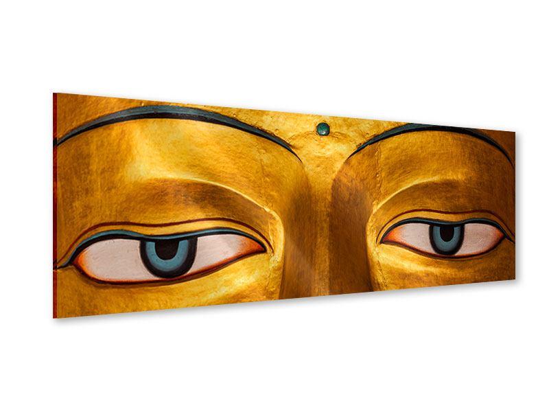 Acrylglasbild Panorama Die Augen eines Buddhas