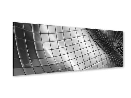 Acrylglasbild Panorama Abstrakter Stahl