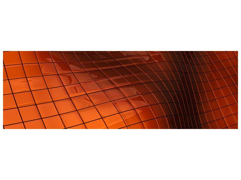 Acrylglasbild Panorama 3D-Kacheln