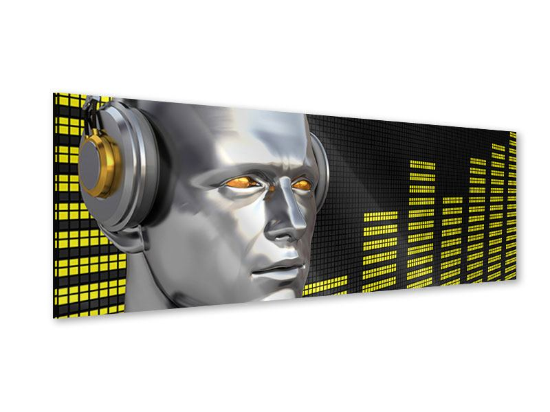 Acrylglasbild Panorama Futuristischer DJ
