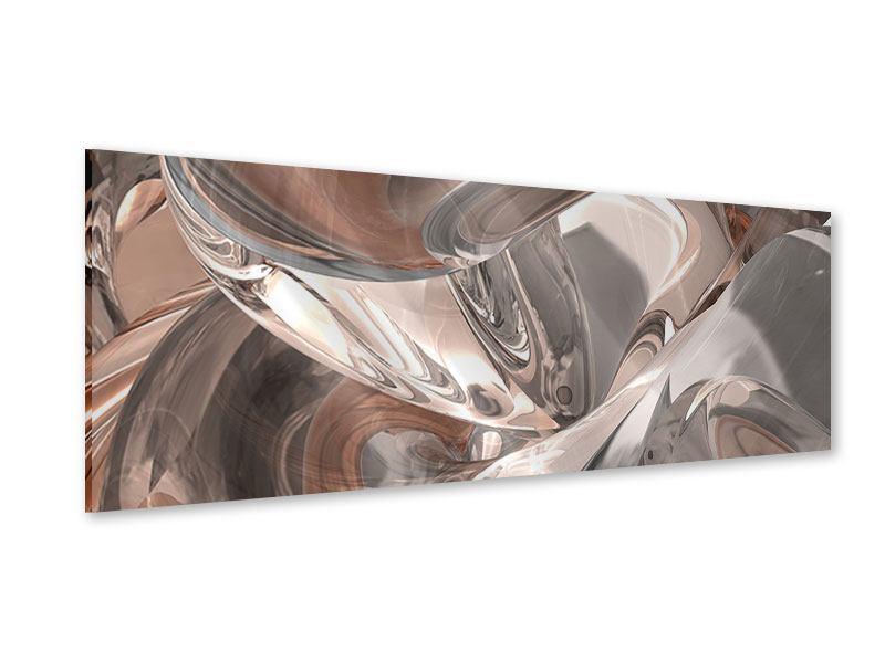 Acrylglasbild Panorama Abstraktes Glasfliessen