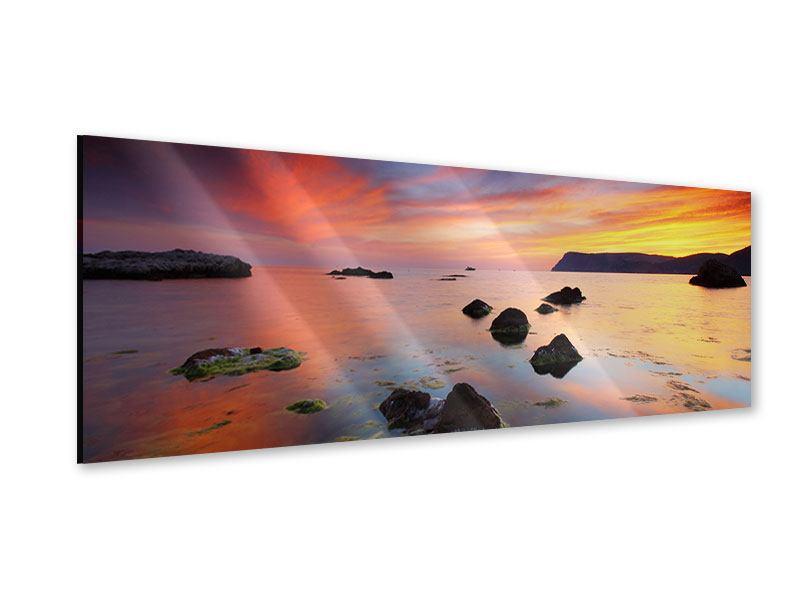 Acrylglasbild Panorama Ein Sonnenuntergang am Meer