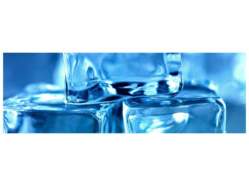 Acrylglasbild Panorama Eiswürfel XXL