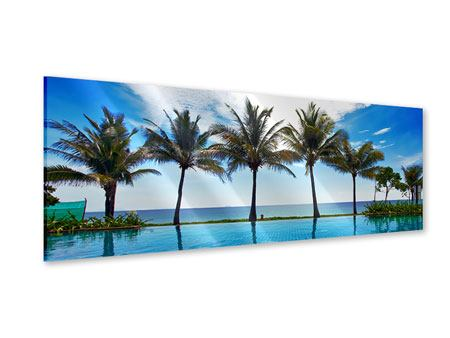 Acrylglasbild Panorama Strandvilla