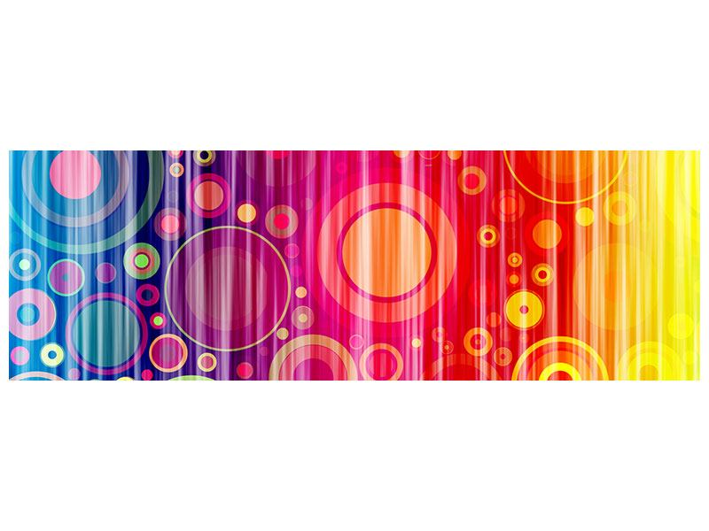 Acrylglasbild Panorama Grunge-Retrokreise