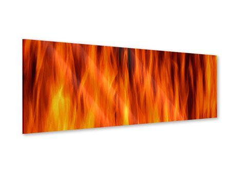 Acrylglasbild Panorama Feuer Close Up