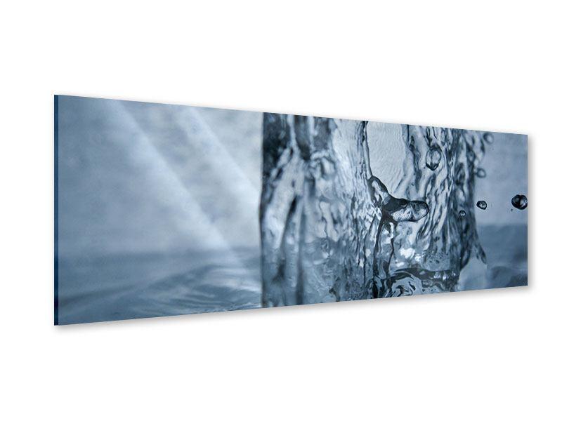 Acrylglasbild Panorama Wasserdynamik