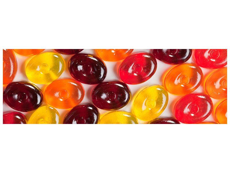Acrylglasbild Panorama Bonbons