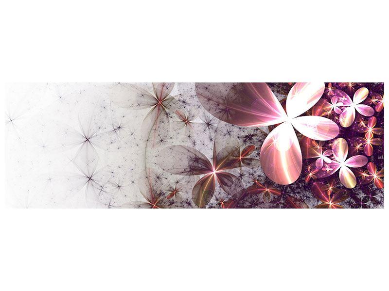 Acrylglasbild Panorama Abstrakte Blumen