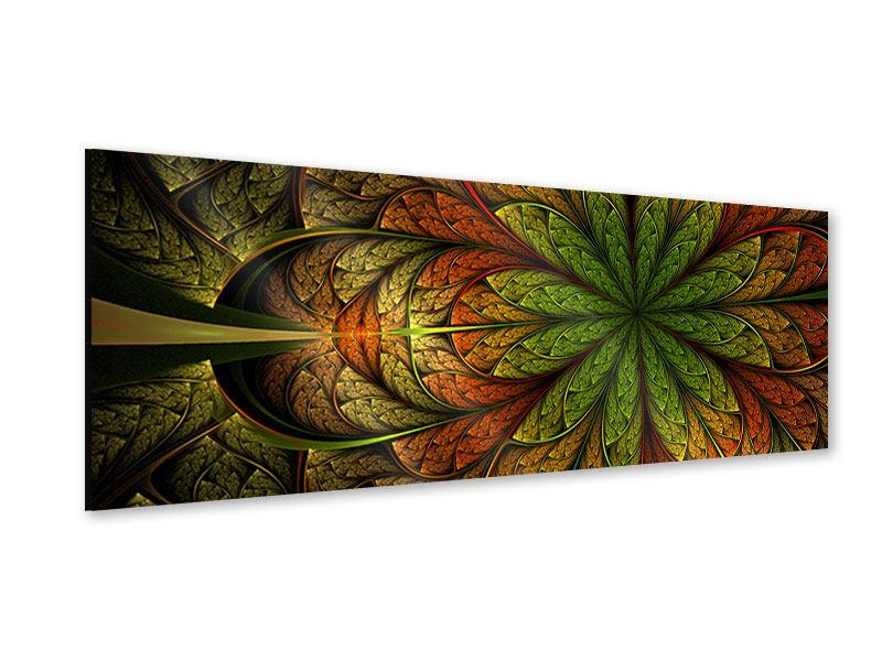 Acrylglasbild Panorama Abstraktes Blumenmuster