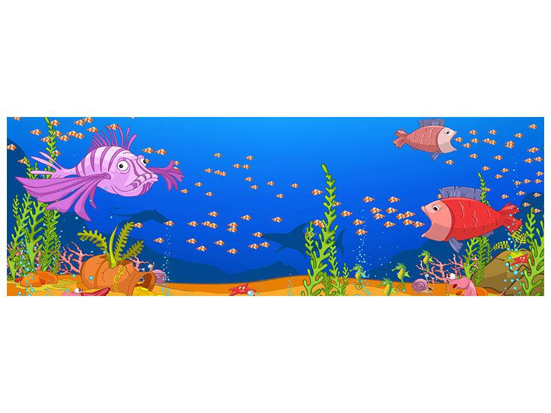 Acrylglasbild Panorama Der Schatz unter Wasser