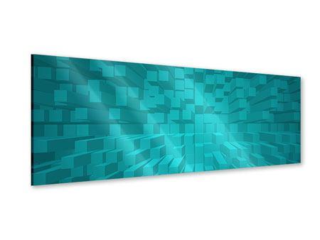 Acrylglasbild Panorama 3D-Kubusse