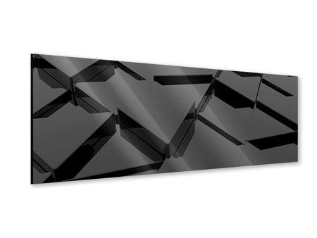 Acrylglasbild Panorama 3D-Dreiecksflächen