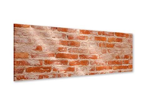 Acrylglasbild Panorama Mauerwerk