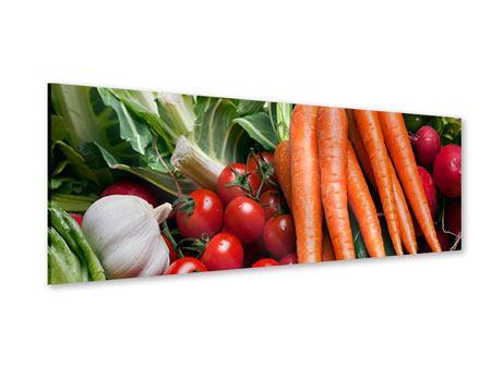 Acrylglasbild Panorama Gemüse