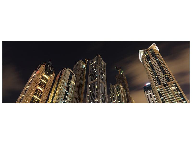 Acrylglasbild Panorama Wolkenkratzer Dubai Marina