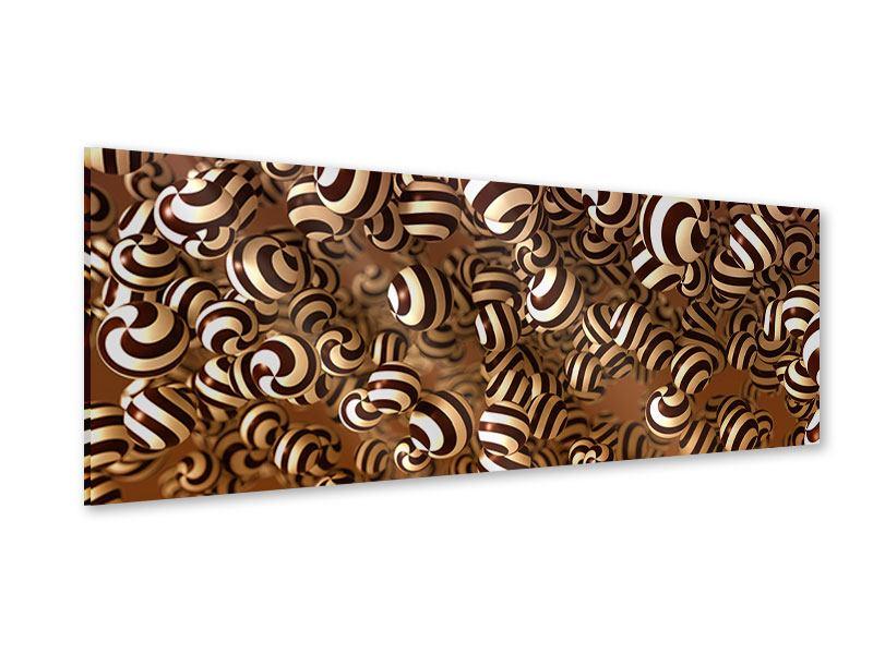 Acrylglasbild Panorama Schokoladen-Bonbons